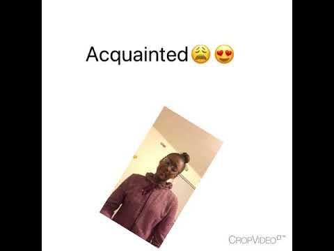 """The weeknd cover """"Acquainted""""❤️🎤"""