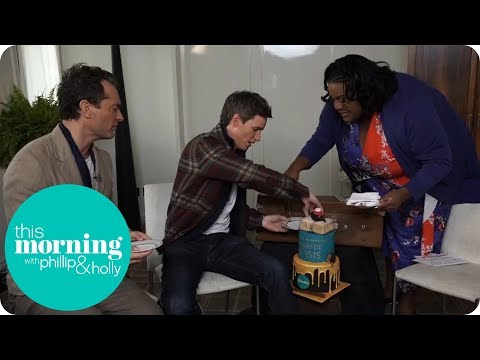 Jude Law and Eddie Redmayne Share a Cake With Alison Hammond   This Morning