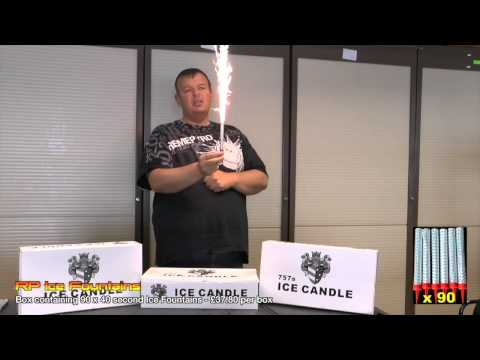 90 Ice Fountain Candles from Royal Party - Only 35p per candle