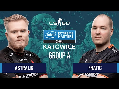 CS:GO - Astralis Vs. Fnatic [Overpass] Map 1 - Group A - IEM Katowice 2020