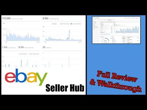 New Ebay Seller Hub Seller Dashboard Full Review Walkthrough Youtube
