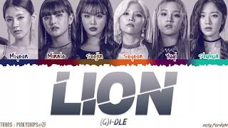 Gambar cover (G)I-DLE - 'LION' [QUEENDOM FINAL] Lyrics [Color Coded_Han_Rom_Eng]