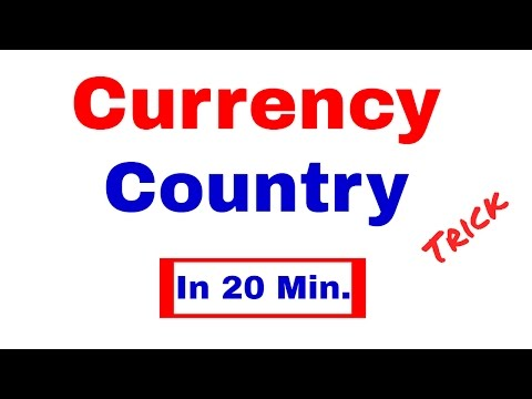 Currency - Country Trick to learn currencies of All importan