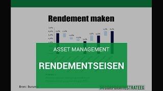 Asset Management: Rendementseisen