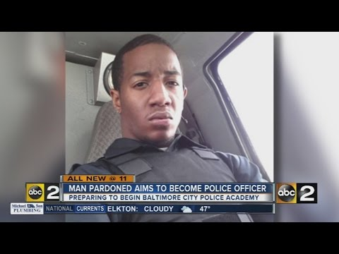 Man pardoned by NJ governer aims to be Baltimore police officer