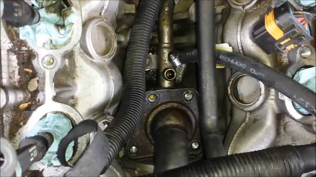 isuzu rodeo intake manifold removal and thermostat replacement part 4 youtube [ 1280 x 720 Pixel ]