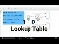 Simulink Tutorial - 20 - 1-D Lookup Table | Using Excel Data | Using Columns