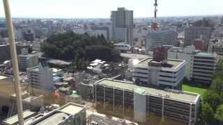 栃木県庁展望ロビーからの眺め 栃木県宇都宮市