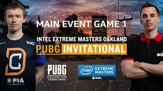 PUBG - GAME 1 - Final - IEM Oakland PUBG Invitational