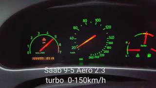 Saab 9-5 Aero 2.3 Turbo acceleration 0-150 km/h