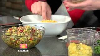 How To -  Black Eyed Pea And Pineapple Salad, New Year's Day Good Luck