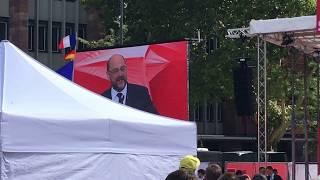 Martin Schulz Bundeskanzlerkandidat SPD in Freiburg auf dem Platz der Alten Synagoge 16.09.2017