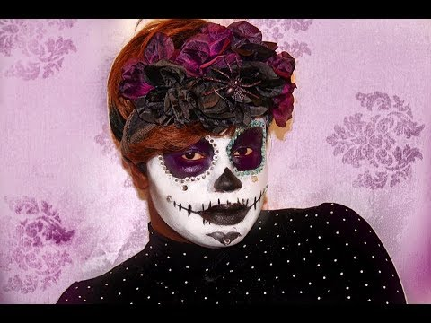 tuto maquillage halloween sugar skull youtube. Black Bedroom Furniture Sets. Home Design Ideas