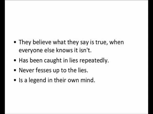 Traits of compulsive liars
