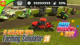 5 Golden tips to make money fast in Farming Simulator 20 fs 20