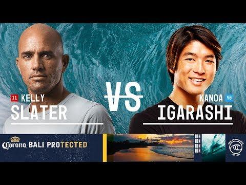 Kelly Slater vs. Kanoa Igarashi - Semifinals, Heat 2 - Corona Bali Protected 2019