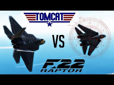 DCS: F-22 Raptor MOD Vs F-14 Tomcat (Just messing around)