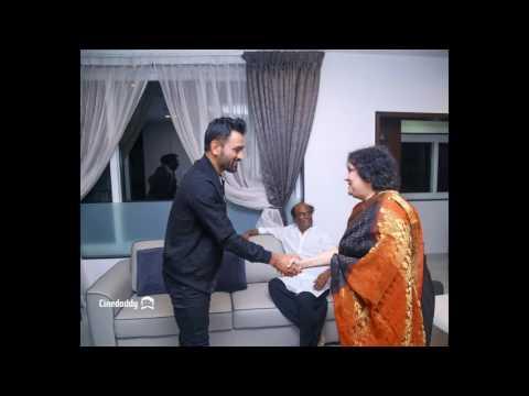 Dhoni Meets Superstar Rajinikanth Video