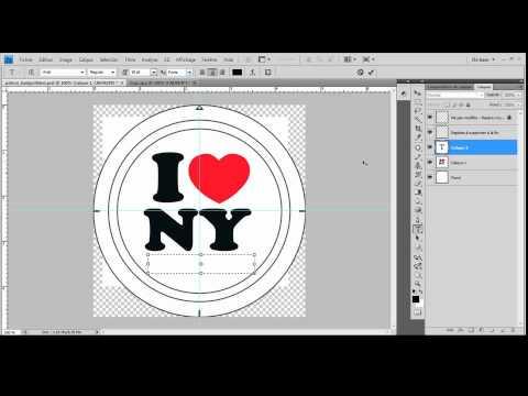Populaire Créer son badge personnalisé avec photoshop - YouTube CA27