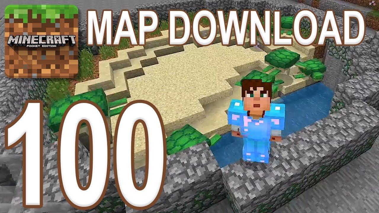 Minecraft: Pocket Edition - Gameplay Walkthrough Part 100 - Map