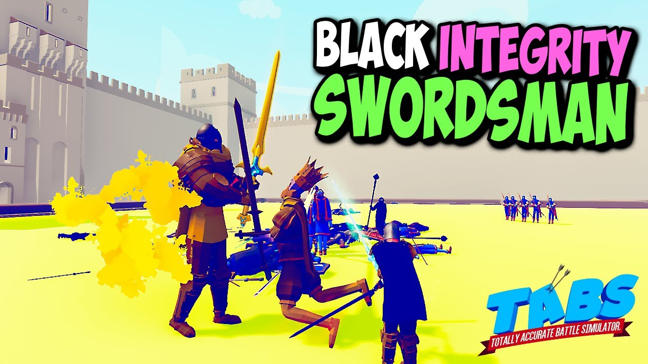 Black Integrity Swordsman (RPG TABS Unit) vs Every Faction - TABS MODS GAMEPALY