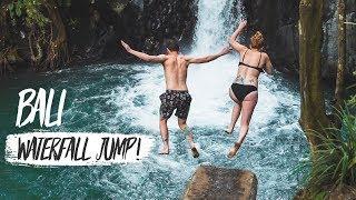 BALI IS BEAUTIFUL! - INSANE Waterfall Cliff Jumping + Exploring Tegallalang Rice Terrace