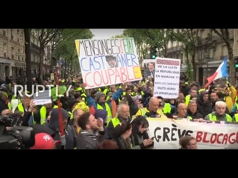 : 'Yellow Vests' protesters take Paris streets for 25th weekend in a row