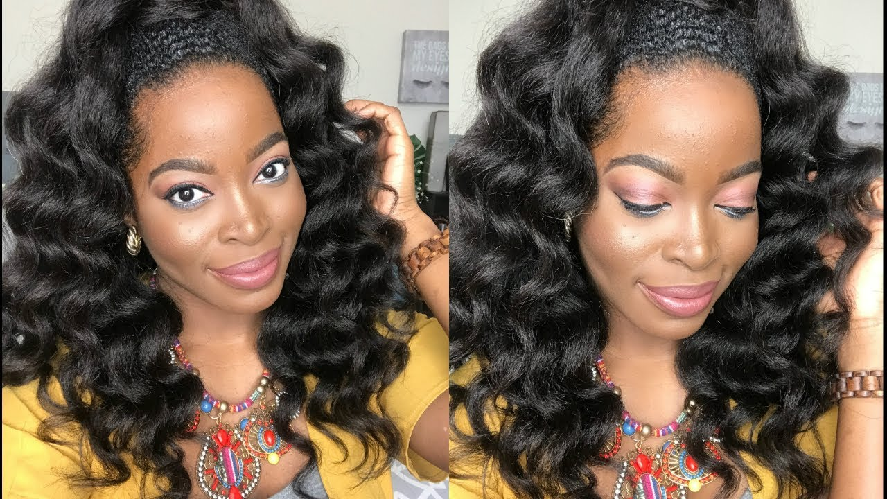 How To Achieve A HALF UP/ HALF DOWN Hairstyle Using KINKY