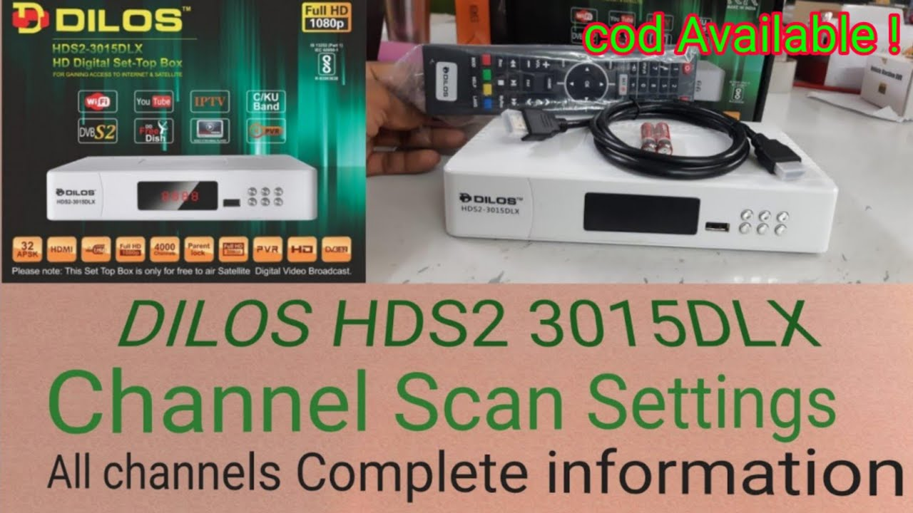 Download Dilos 3015DLX HDS2  Box Channels scan & All Channels Information, New Latest Video