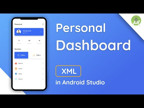 Personal Dashboard ,Profile Dashboard App Design in Android Studio | Android Tutorial | Speed Code thumbnail