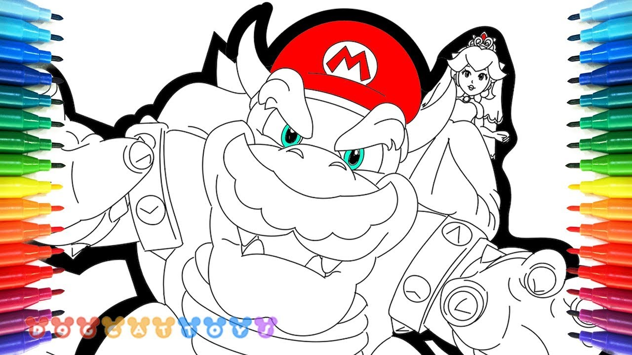 How To Draw Super Mario Odyssey Bowser Mario Princess Peach 69 Drawing Coloring Pages For Kids