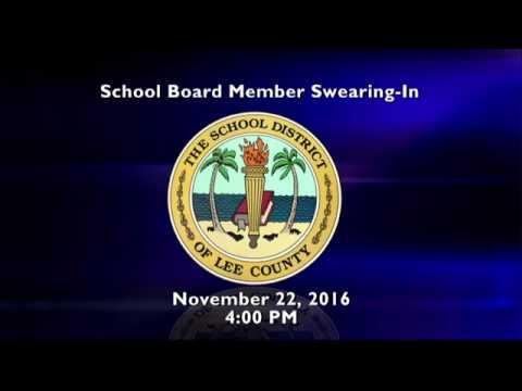 School Board Member Swear-In November 22, 2016