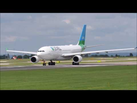Second Level A330 departing Manchester after a new re-paint from Air Livery!