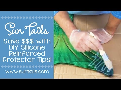 DIY Protect your Fabric Mermaid Tail with Silicone!