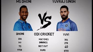 MS Dhoni vs Yuvraj Singh Comparison 2017 ! Select the best ?