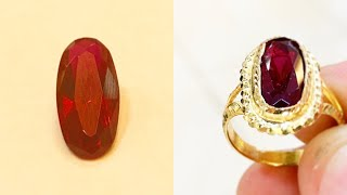 Making a Gold Ruby Ring | Handmade Jewellery | Gold Jewelry Making | 4K Video
