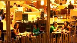 Sweet Couples Eating Dinner on Romantic Date in Asia