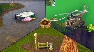 """Search Between A Bench, Ice Cream Truck, And A Helicopter"" FORTNITE Season 4 Week 4 Challenge"