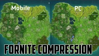 FORNITE ANDROID VS FORNITE PC (COMPRESSION) WITH DOWNLOAD LINK