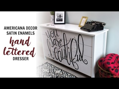 Add Graphic Hand Lettering to a Dresser