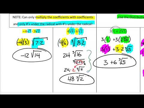 34 - Operations With Nth Root Radicals (VIDEO 2)