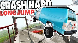 Which Car Can Jump the Farthest on CRASH HARD 2.0? - BeamNG Drive Crash Hard 2.0 Bridge Jumping
