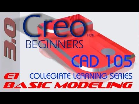 E1 PTC CREO Parametric 3.0 - Basic Modeling 1 Tutorial