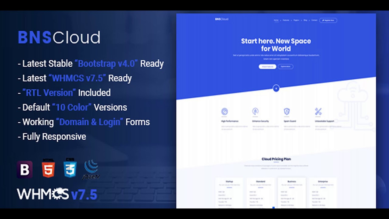 Bnscloud Multipurpose Hosting With Whmcs Templates Themeforest