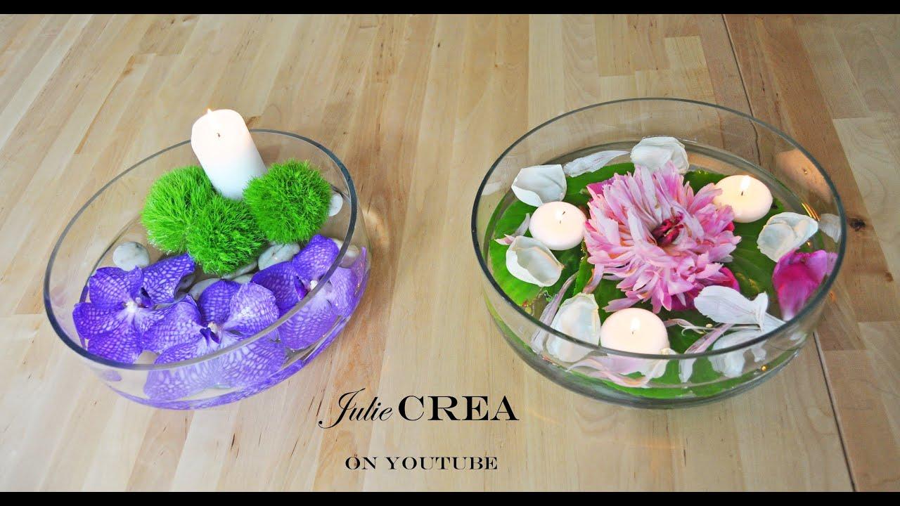 Arreglos florales con agua y con velas youtube - Arreglos con velas ...