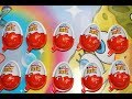 10 Kinder Surprise Joy Eggs Huge Toy Opening Disney Ice Age