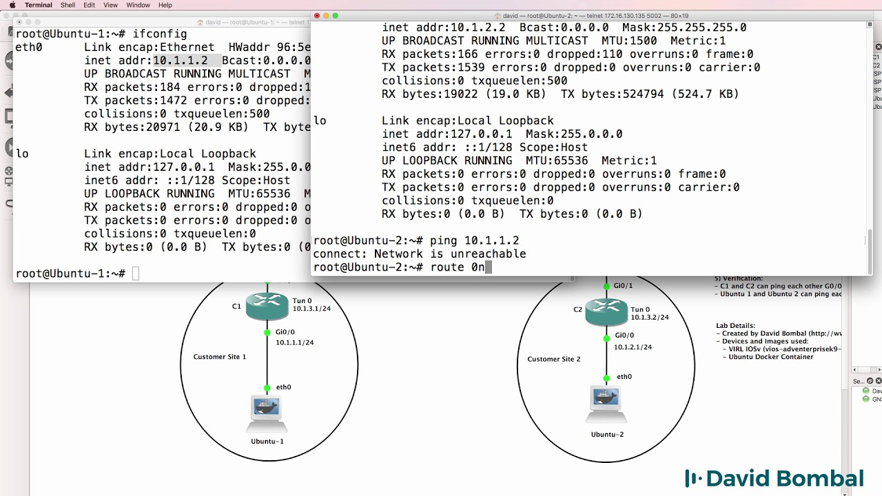 GNS3 Labs: GRE Tunneling across BGP Internet routers: Answers Part 2