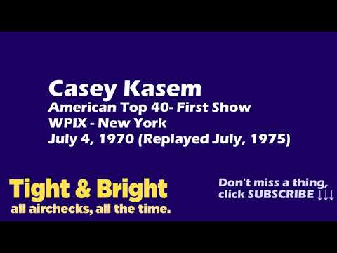 Casey Kasem American Top 40 - First Show - WPIX, New York - July 4, 1970 - Radio Aircheck