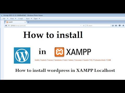 How to install wordpress in XAMPP Localhost - YouTube