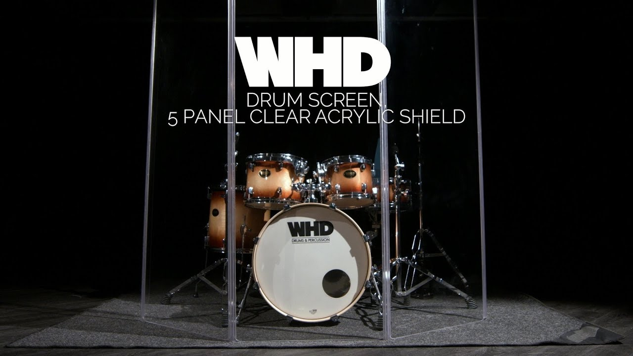 Whd Drum Screen 5 Panel Clear Acrylic Shield Gear4music